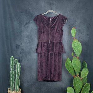 Alice + Olivia Dresses - CLEARANCE Alice + Olivia Plum Velvet Peplum Dress